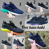 Adidas Alphabounce size 39 43 sepatu pria olahraga sekolah hitam navy