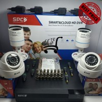 Paket Kamera CCTV SPC 4ch Canyon 2MP Komplit Full HD Murah