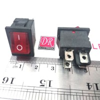 Tombol saklar switch lampu sedang on off 4 kaki pin gepeng rocker