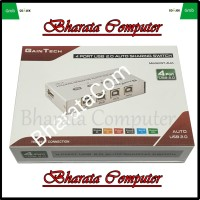 Auto USB Sharing Switch 4 Port Gaintech - Switch Printer USB 4 port
