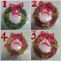 Hiasan Natal Krans Wreath Ring Slinger Tinse