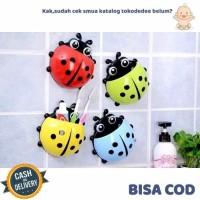 Tokodedee - Toothbrush Holder Ladybug/Tempat Sikat Gigi Bentuk Kumbang