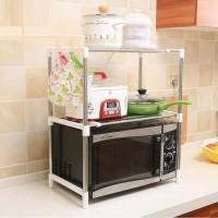 Rak microwave 2 susun Rak dapur Rak piring Rak Multifungsi Rak sepatu