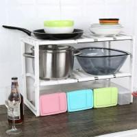Rak panci bawah wastafel 2 tingkat rak dapur rak piring rak panci