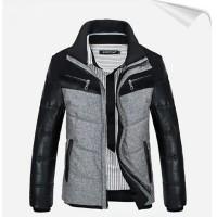 jaket musim dingin jaket winter pria kombinasi semi kulit terbaru