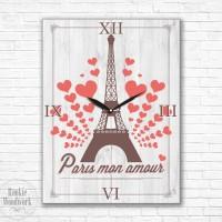 jam dinding / meja eiffel NEW Paris mon amour