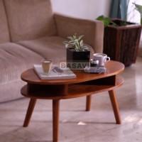 Meja Coffee Table Kayu Solid Tamu Side Samping Rumah Minimalis Cafe