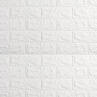 WALLPAPER 3D ZT0101 BRICK FOAM WHITE WALLPAPER DINDING BATU BATA PUTIH