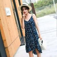 Baju Wanita DRESS FLOWY NAVY IMPORT