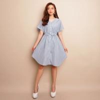 Baju Wanita BLUE STRIPE DRESS