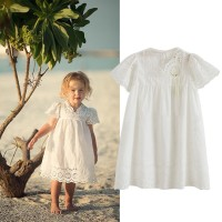 Summer Girl Dress Kids Children Clothes White Lace Princess Thin Dress