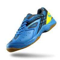 Sepatu Badminton Pria Eagle SPIKESHOOT PRO Sepatu Bulutangkis UNISEX - Biru Muda Abu, 38