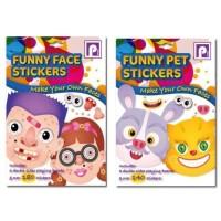 Mainan Stiker Anak Funny Face Sticker