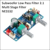 Subwoofer Low Pass Filter 2.1 Multi Stage Preamp NE5532 Bass Filter