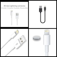Kabel Data Power Bank iPhone 6 20cm 2A Kabel iPad Lightning iOs PENDEK