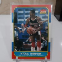 kartu basket, nba card, thompson fleer 87 original