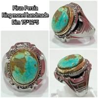 cincin natural batu akik permata pirus persia h2