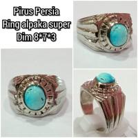 cincin natural batu akik permata pirus persia hh5