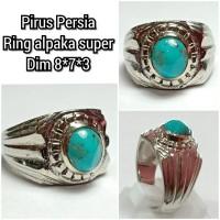 cincin natural batu akik permata pirus persia h7