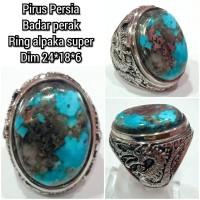 cincin natural batu akik permata pirus persia h6