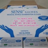 Sensi Gloves Sarung Tangan Sensi Nitrile Powder Free N Terbaru