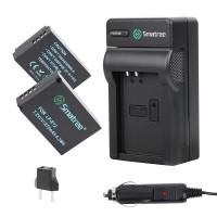 Smatree for Canon LP-E12 LPE12 Battery KIT EOS 100D M M2 M10 M50