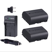 Smatree Battery 2-Pack & Charger for Canon LP-E6 & LP-E6N