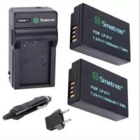 Smatree Battery Kit Canon LP-E17 LPE17 EOS 77D 200D 750D 760D 800