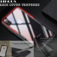 Iphone 7Plus Case Likgus Original Back Cover Tempered Glass