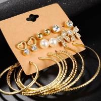 Hot Deal 9 Pasang Set Anting Tusuk Mutiara Berlian Imitasi untuk