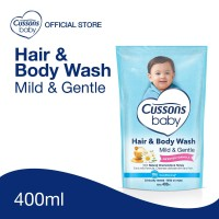 Cussons Baby Hair & Body Wash Mild & Gentle Pouch 400ml