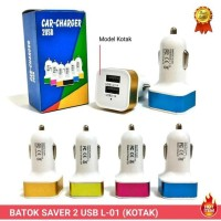 Batok Charger Mobil SAVER 2 USB packing elegan .