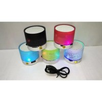 Speaker Bluetooth S10 CRECK Effect ( Motif Retak ) Mini S-10 Lampu LED