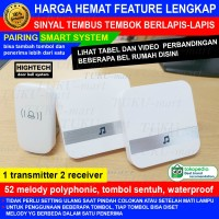 bel rumah HIGHTECH 1 transmitter 2 receiver