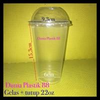 1DUS/1000PC GELAS + TUTUP 22oz cup plastik thai tea KHUSUS GOSEND