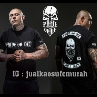 Kaos Mma Pride Or Die, Kaos Ufc, Kaos Mma, Kaos Muay Thai - Hitam, S