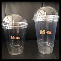 Cup Plastik / Gelas Plastik 22 oz Thai Tea + Lid Dome (isi 25) OBRAL