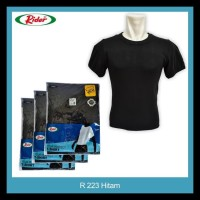 T-Shirt / Kaos Dalam / Oblong RIDER HITAM - Style R223B STOK TERBATAS