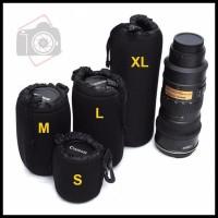 Flash Sale Paket Pouch / Tas Lensa Kamera Dslr Isi 4Pcs Berkelas