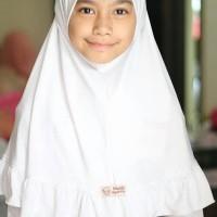 Stok Terbatas Jilbab Anak Seragam Sekolah Putih Monia Hijab Kids Size
