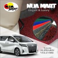 Karpet Mobil Mie Bihun TOYOTA alphard atau velvirre Full Bagasi 2 war