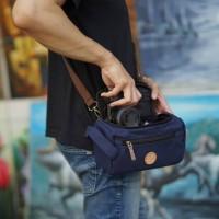 Tas Kamera Sling Bag Pouch Camera Mirrorless - Firefly Ingvar Navy