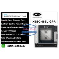Unox Bakertop 6 Tray Gas Combi Oven XEBC-06EU-GPR