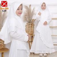 AGNES Baju Muslim Anak / Gamis Putih Anak / Baju Syari Putih Anak 529