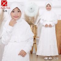 AGNES Gamis Putih Anak Perempuan Baju Muslim Syari Anak Lebaran 528