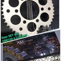 gear SET 428 XTREME CBR 6 LUBANG CBR150 FACELIFT NEW 150 NO SSS RACING