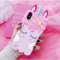 Case Silicone Xiaomi Redmi 5A 3D Unicorn Eyelashes