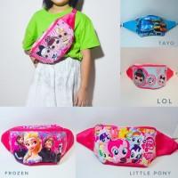 Waist Bag Tas Selempang Anak Little Pony LOL Frozen Tayo lokal murah