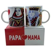 KedaungHome Mug Papa-Mama/King-Queen Z-SIT-MPM-SET-12OZ