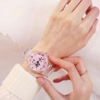 Jam Tangan Korea Transparan Wanita